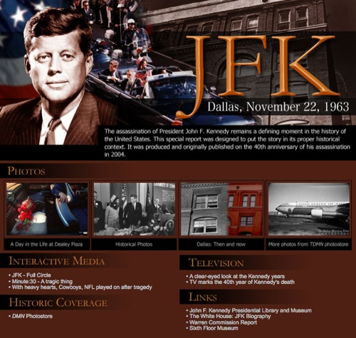 Current JFK page from 2004