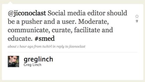 @greglinch social media editor twitter definition
